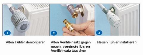 Häufig Hydraulischer Abgleich - Thermostatventil und Fühlerelemente NX09